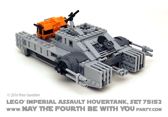 Star Wars Rogue One LEGO Imperial Assault Hovertank, Set 75152 /// We add new Star Wars fun on our blog every week! /// #starwars #rogueone #lego #minifig #imperialassaulthovertank #hovertank #review #starwarslego /// maythefourthbewithyoupartyblog.com