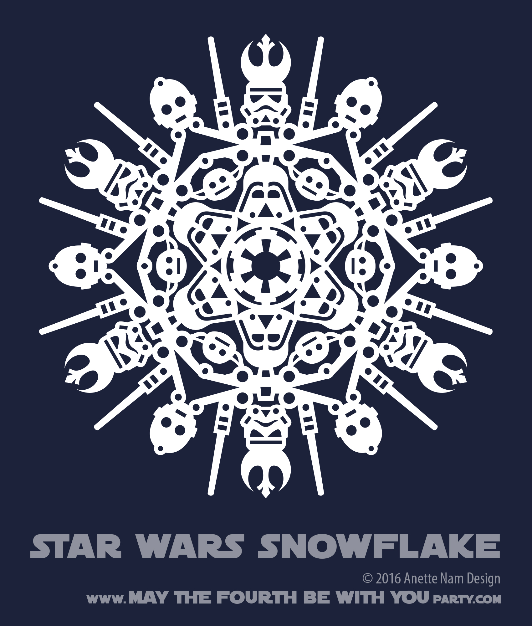 star wars snowflake pattern  1  downloadable