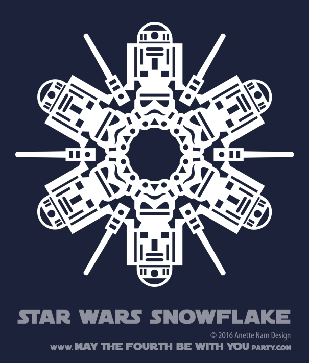 May The 4th Be With You And Also With You: Star Wars Snowflake Pattern #6 (downloadable)